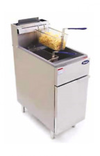"""NEW 50 LBS FRYER 16"""" WIDE 2 LRG BASKETS COMMERCIAL RESTAURANT  NATURAL OR LP GAS"""
