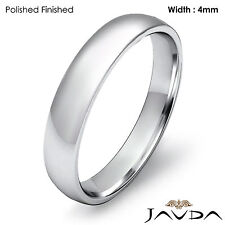 4mm Wedding Ring Platinum High Polish Dome Light Comfort Men Band 6.8gm 11-11.75