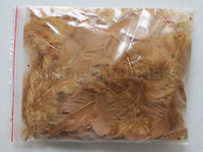 """10g (0.35Oz) Ginger 3~4"""" Turkey Plumage Feathers for crafting, 80~120 counts"""