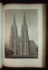 1821  Germany Medieval Architecture.  Engravings. Georg Moller Giant Folio