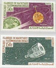 MAURITANIA MAURETANIEN 1963 217-18 C23-24 Communication Satellite Space MNH