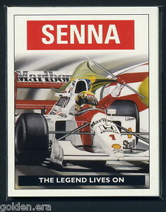 AYRTON SENNA - 'The Legend Lives On' - Art by Colin Carter - Collectors Card Set