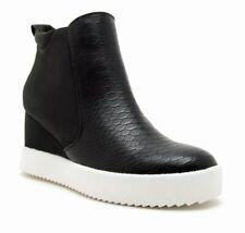 NEW Qupid Women's Rodina Black Snake Wedge High Top Sneaker Shoes Size 7.5 w/Box
