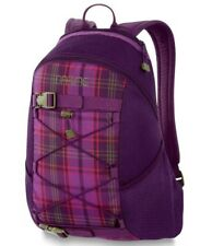Dakine WONDER 15L Luna Plum Plaid Skateboard Carry Bungee Storage Backpack