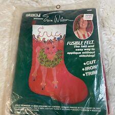 Nos Stacy 16� Christmas Morning 7009 Stocking Kit Fusible Felt Erica Wilson