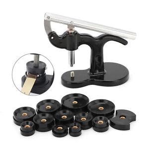 13tlg Einpresswerkzeug Gehäuseschließer Uhrendeckelpresse Uhrenschließer set