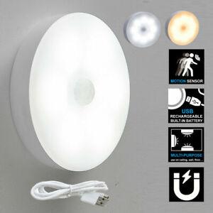 8 LED Motion Sensor Light Night PIR Battery Wireless Cabinet Magnetic Stair Lamp