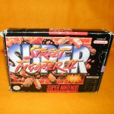 VINTAGE SUPER NINTENDO ENTERTAINMENT SYSTEM SNES STREET FIGHTER II GAME NTSC