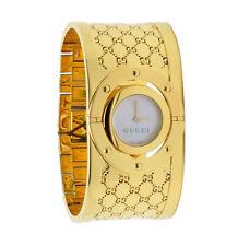Gucci Twirl YA112440 Gold-Tone Stainless Steel Bangle Women's Watch