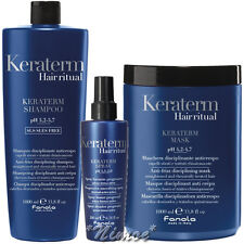Keraterm Kit Max Shampoo 1Lt + Mask 1Lt + Spray Fanola ® Anti-frizz Disciplining