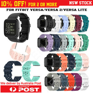 Fitbit Versa Band/2/Versa Lite Silicone Strap Wristband Replacement Sports Bands