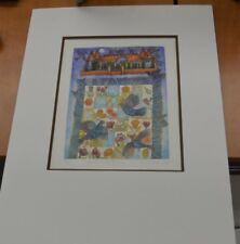 """DEBERDT FRANCOISE Litographie 14/50 """" Jardin de Fleurs """""""