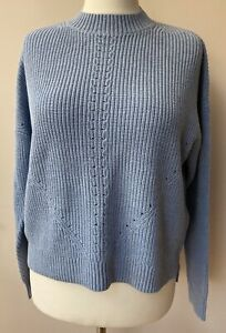 Ladies FATFACE Ivy Jumper In Sky Blue Size 18 BNWT