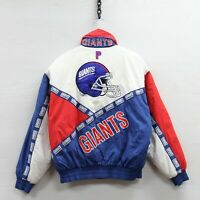 Vintage New York Giants Pro Player Puffer Jacket Size Medium 90s Insulated NFL