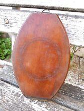 Ancien miroir double de voyage en bois barbier coiffeur rasage...