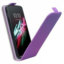 Coque Housse Alcatel OneTouch Idol 3 (5.5) Rabat Vertical Cuir Eco Gel Violet