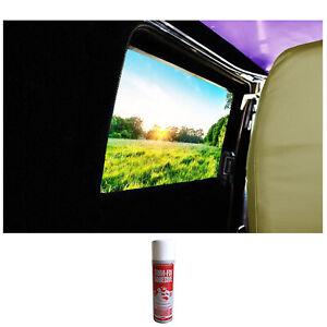 Black Camper Van Lining Capet Trim Super 4 Way Stretch inc Trimfix Adhesive Glue