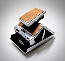 "Polaroid SX-70 ""Toasted Almond"" Hand Tipped Full Grain Leather PolaSkinz SLR680"