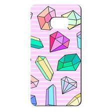 Para Samsung Galaxy S6 Funda de Silicona Rosa Bling Diamantes Azul Púrpura-S666