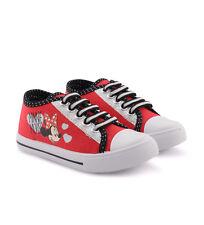 373135671c59 New Kids Girls Junior Canvas Plimsolls Pumps Minnie Mouse Size EUR 31UK  12.5 RED