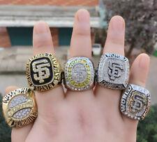5 Pcs 1989 2002 2010 2012 2014 San Francisco Giants World Championship Ring