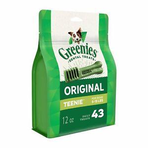 Greenies Original Teenie Size 43 count 12 oz | Dental Chew Treats for Dogs