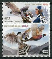 South Korea Birds on Stamps 2019 MNH Falcons Falconry UNESCO Heritage 2v Set
