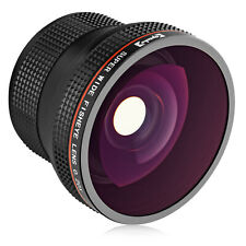 Opteka .20x Fisheye Addon Lens for 52mm 55mm 58mm 67mm Threaded Camera Lenses