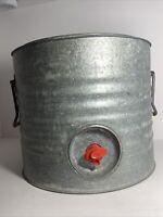 Vintage 1960's Galvanized Metal 3 Gallon Water Cooler Water Jug