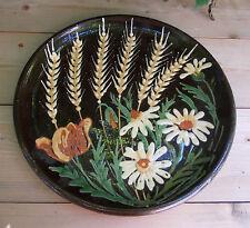 Arte popolare d'Alsace Piatto in terracotta smaltata Klein Strasburgo @