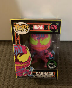 Marvel - Carnage Blacklight FUNKO EXCLUSIVE Pop Vinyl Figure RARE! +PROTECTOR