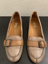 Paul Green Handmade Brown Patent Buckle Loafers Slip On Women Sz 5 US 7/7.5
