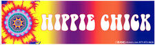 Hippie Chick - Magnetic Bumper Sticker / Decal Magnet