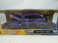 1:18 Shyne Rodz Colección 1940 Chevy Sedan Lila Rareza - Nuevo / Embalaje