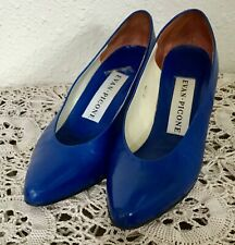 "80's Vintage Royal Blue Leather ""Evan Picone"" Pumps"