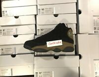 SHIP NOW Nike Air Jordan 13 XIII Retro Olive 8-13 Black Gym Red Olive 414571-006