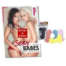 Erotik Kalender 2018 Sexy Babes 2018 & Badenschwamm als Pen