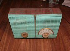 VTG Philco twin dual speaker tube radio 826 1950s jetsons Blue Gold Woodgrain