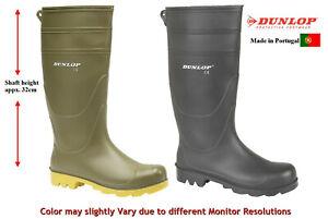 Dunlop Unisex Womens Mens High Leg Wellington Wellies Rain Boots,Garden, Work