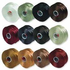 S-Lon Beading Thread Bobbins 12 Colors Size D Neutrals (STSL-MIX1)