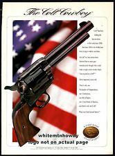 1998 COLT COWBOY SAA Revolver PRINT AD American Flag Red White and Blue