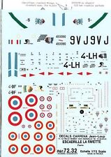 Lot of 5 1/72 scale Carpena Decal Sets: French Aircraft Bundle- MINT Condition