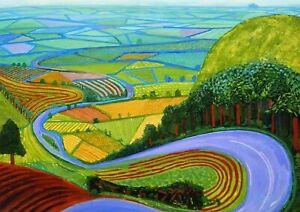 David Hockney Garrowby Hill Canvas 20x30 Inches Wall Art Ready To Hang