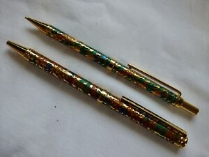 Boots Cloisonne Ballpen & Mechanical Pencil Set.