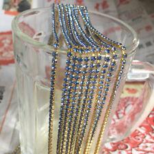 SS8 (2.5mm) Crystal Rhinestone Close Chain Trim Sewing Craft DIY Crystal Chain G