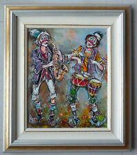Hst de Claude DUMONT - clowns - Référencé ARTPRICE et AKOUN