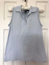 Donna Karen DKNY Essential A-Line Relax Blue Cotton Mesh Sleeveless POLO SHIRT P