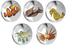 2010 Australian Sea Life The Reef - Five Coin Silver Proof Set in Display Box