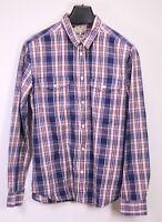 HB459 Wrangler Herren Holzfäller Hemd Shirt Gr. L Langarm kariert blau weiß rot