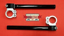 CAFE RACER 53mm CLIP ON HANDLEBAR FULLY ADJUSTABLE CNC ALLOY *NEW* FREE DELIVERY